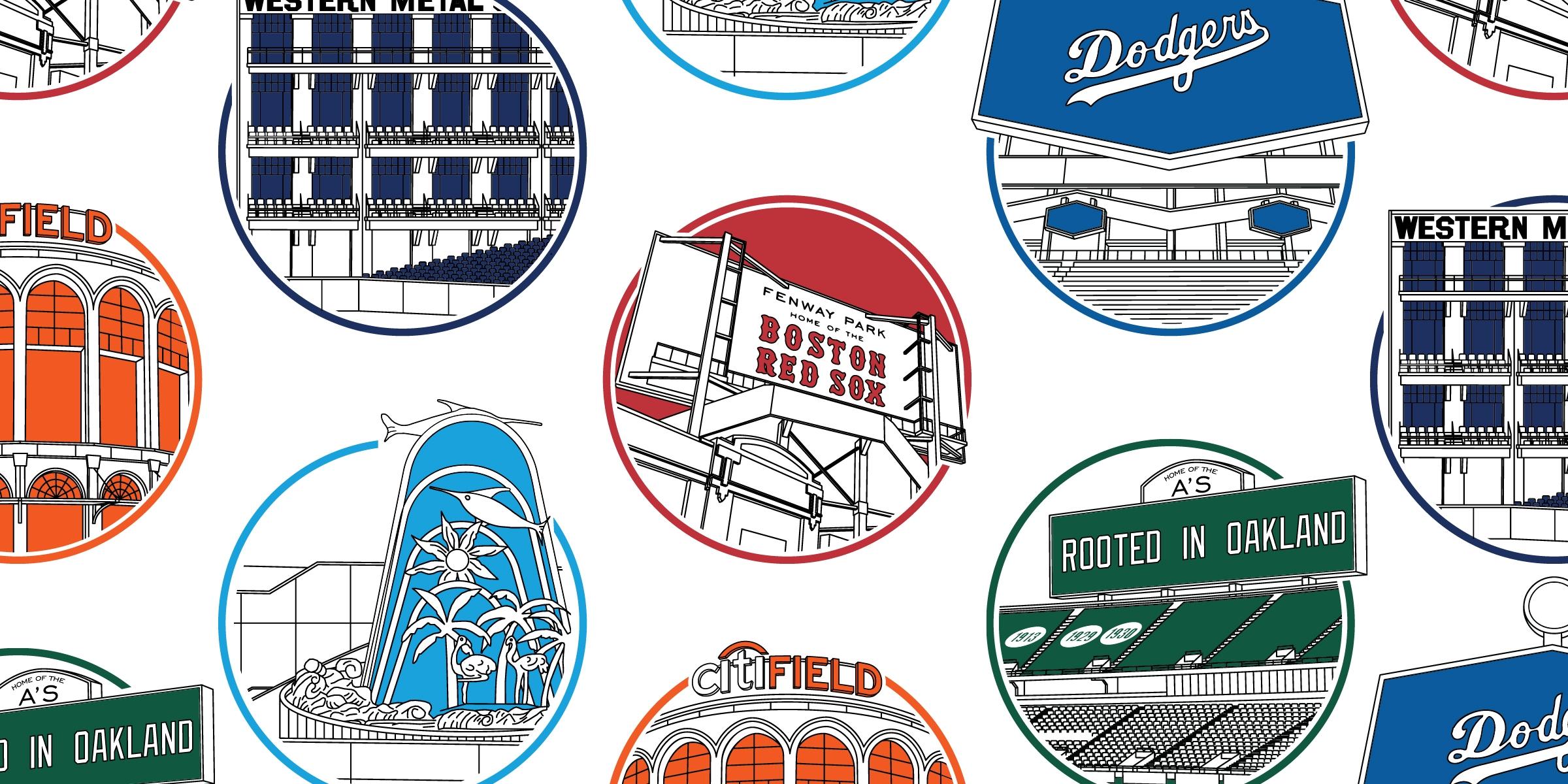 The Irregular Outfields of Baseball